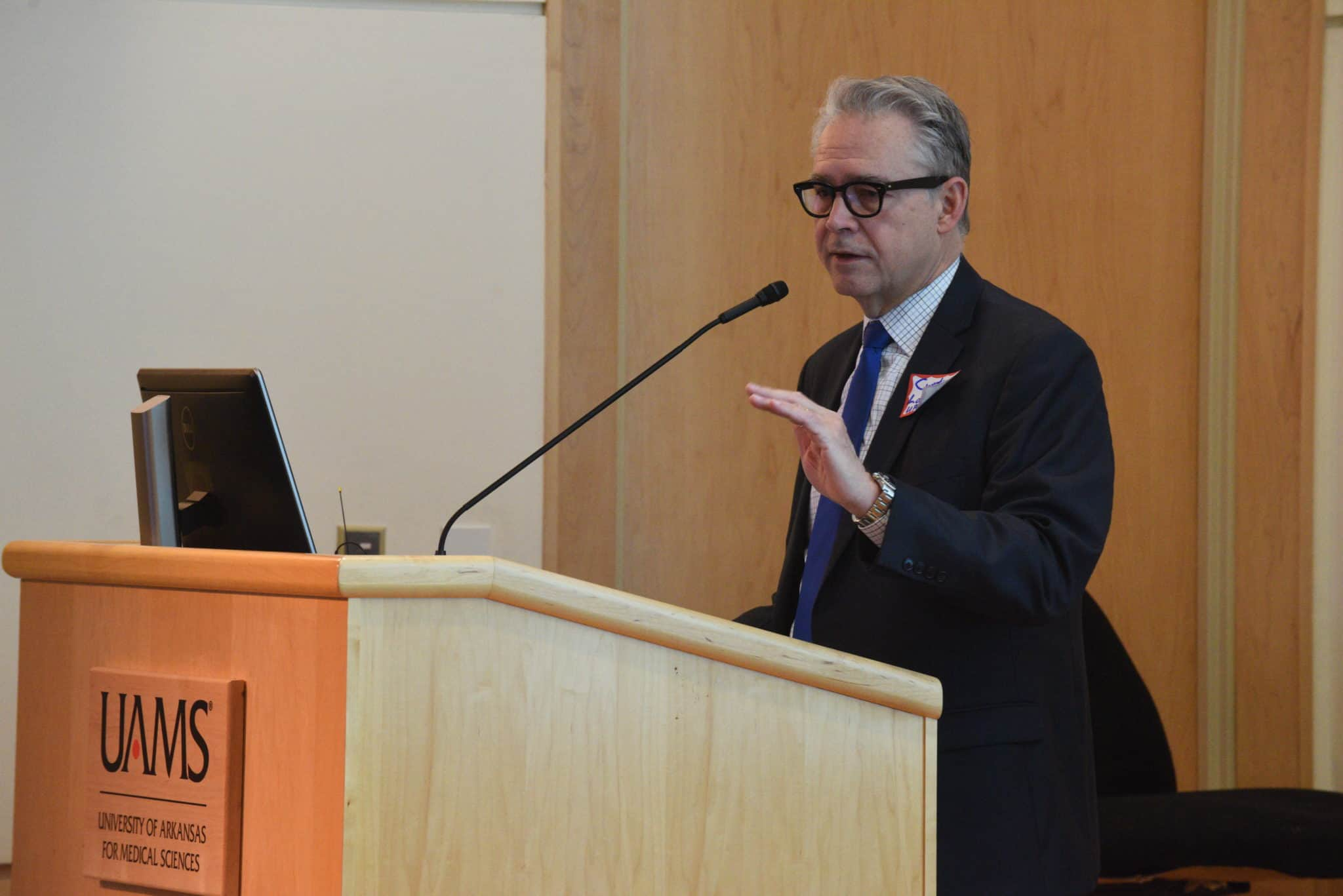 Curtis Lowery, M.D., welcomed the 80-plus attendees to UAMS' first Digital Health Conference.