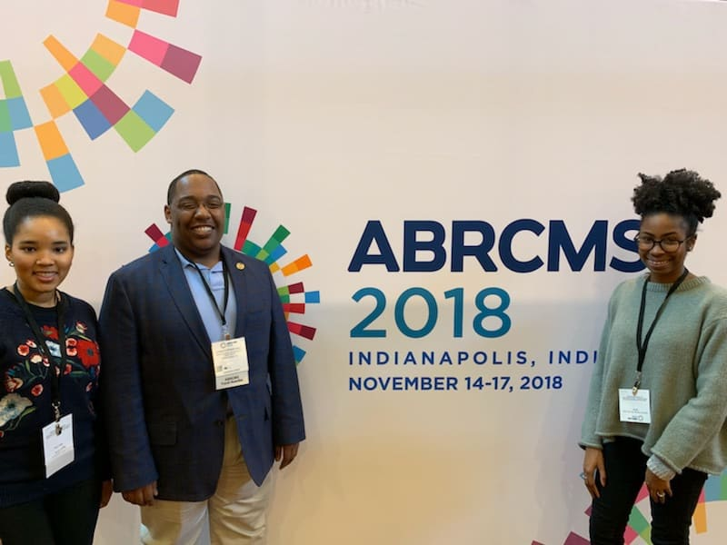 Three undergraduate students in the UAMS Summer Research Internship program recently attended in the ABRCMS in Indianapolis.