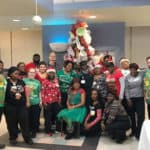 """The amazing Nutrition Services staff prepared meals for 9,000 UAMS employees. """"This was a herculean effort, and I can't praise my staff enough for all of the work they put into this meal,"""" said Director Tonya Johnson."""