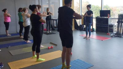 Yoga classes are among the most popular ones offered at the Fitness Center. The Fitness Center offers six classes a day, Monday through Thursday.