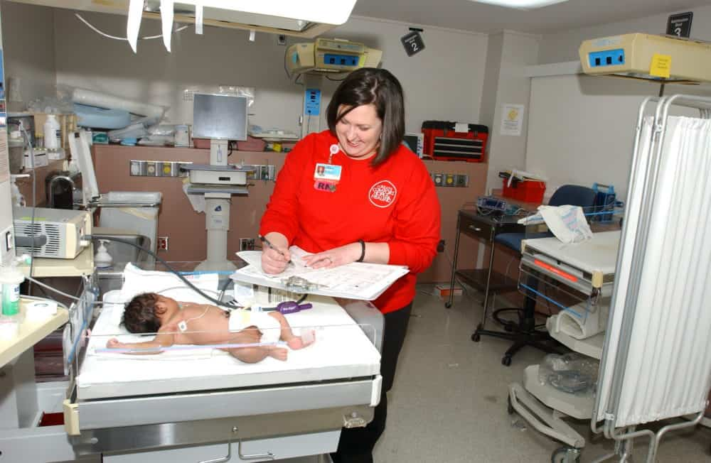 Babies in the neonatal intensive care unit (NICU) were the first patients to be moved into the new hospital.