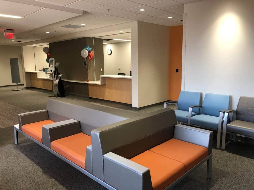 The UAMS Allergy, Endocrinology, Podiatry, Pulmonary and Renal clinics are housed in the space that used to be the Internal Medicine North clinic.