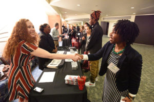 Representatives from UAMS colleges met with students in the ED II concourse throughout the day.