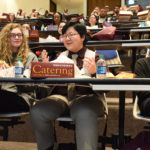 Visiting undergraduates heard from current UAMS students during a lunch discussion panel.