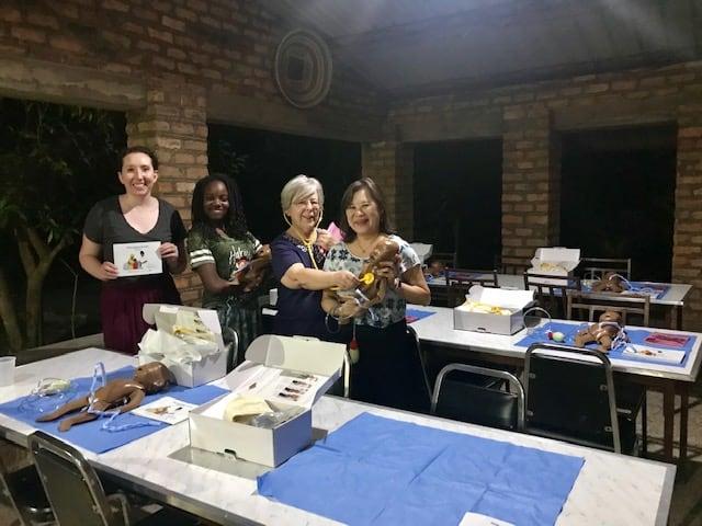 Anita Mitchell, Ph.D., APRN, with members of her team Kim Smith, M.D., and Caroline Crocker, D.O.