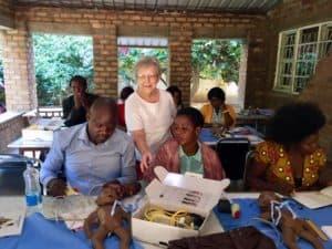 Anita Mitchell at Namwianga Mission in her native Zambia.