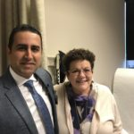 Denise Frerichs visits Kazemi in his clinic at UAMS.
