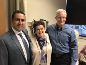 Mark (right) and Denise Frerichs with Noojan Kazemi, M.D.