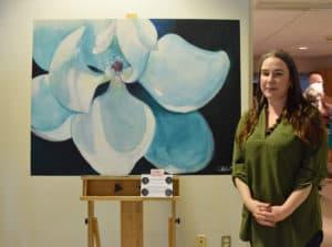 "Jessica Lowder created the judges favorite piece, ""Magnolia Blossom."""