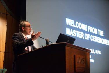 Dr. Messias at podium