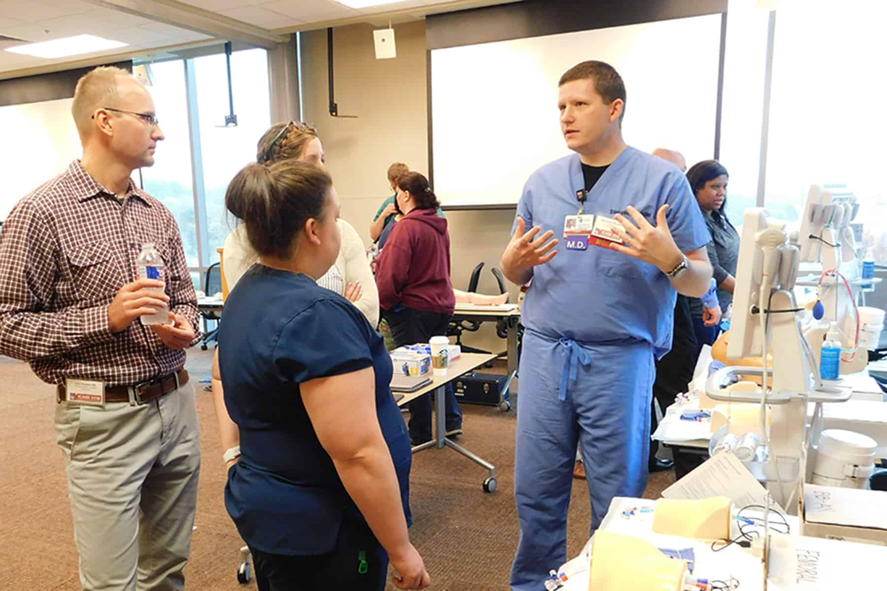More than 180 health care professionals, first responders, police officers and firefighters attended the fourth annual ICARE Conference for Trauma Education at UAMS in Little Rock on April 6-7 to receive updates and additional training exercises on best practices in emergency care.