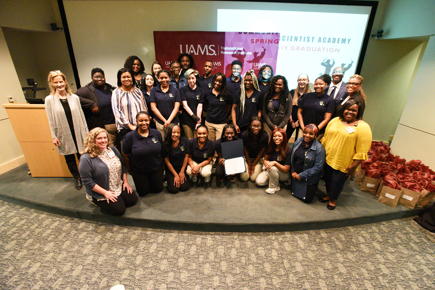 Students in the Little Rock School District's Excel Program were the first high school students to graduate from the Community Scientist Academy.