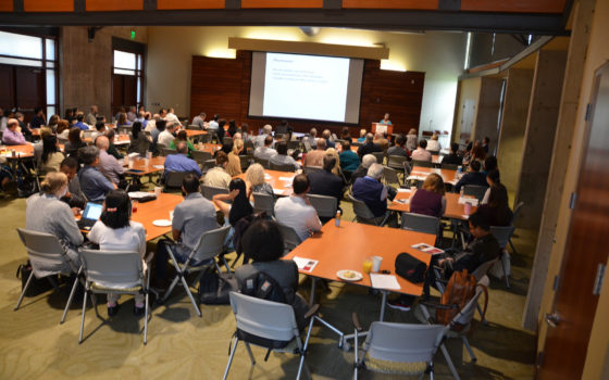 UAMS cancer researchers gathered May 2 for the inaugural Winthrop P. Rockefeller Cancer Institute Research Retreat.