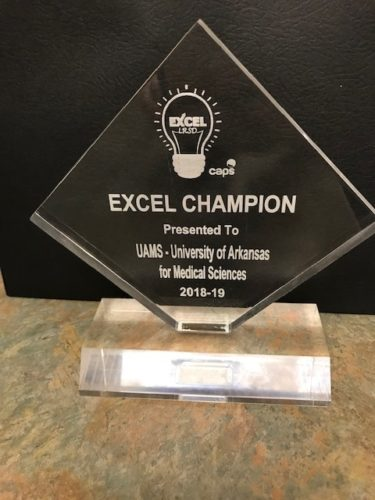 TRI received the EXCEL Champion Award from the Little Rock School District after graduating students who participated in the TRI Community Scientist Academy.