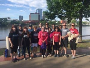 Team UAMS at the Central Arkansas Heart Walk on April 27.