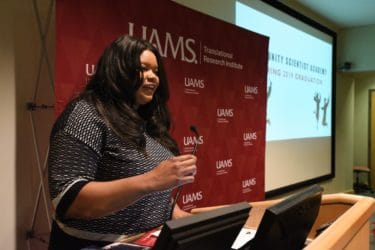 UAMS' Nakita Lovelady, Ph.D., M.P.H., challenged the students to find their passion.
