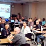 More than 50 people attended the workshop on Department of Defense research funding.