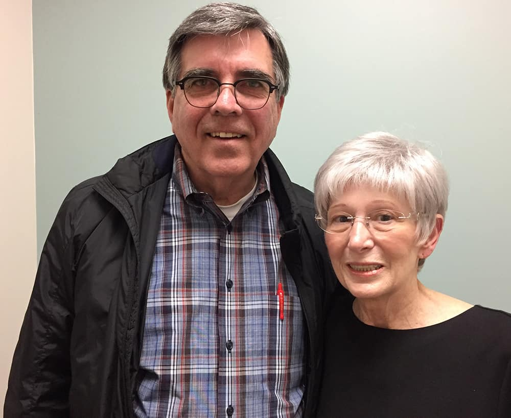 "Linda Reins of Tulsa, Oklahoma, and her husband Robert recently learned she is in complete remission. ""Dr van Rhee has given me time and hope,"" she said."