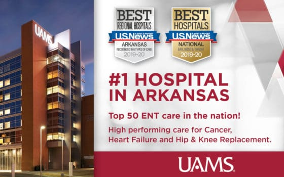 UAMS Medical Center Ranked No  1 in State by U S  News & World