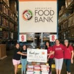 The staff of H4 trauma/surgical/cardiovascular Intensive Care Unit donated the equivalent of 652 boxes of cereal to the Arkansas Foodbank.