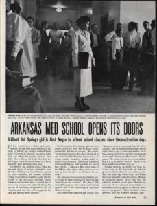 Jones' enrollment attracted national media attention from publications such as Ebony magazine.