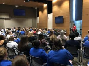 More than 100 frontline caregivers, physicians and clinical staff attended a June 19 Schwartz Rounds. <i>Photo credit, Kate Franks</i>