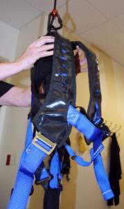 Solo-Step overhead harness, held in hands