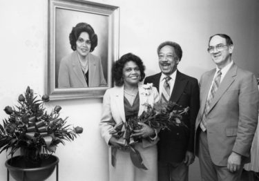 Jones and her husband, James B. Jones, with former UAMS College of Medicine Dean Tom Bruce, M.D.