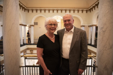 Concetta Baker, CON '69, and her husband, Murl Baker Jr., COM '71, attended the Saturday night Golden Grad dinner at the Capital Hotel.