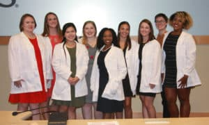 The Audiology Class of 2023 received their white coats in an Aug. 16 ceremony.