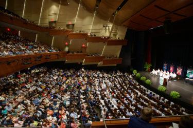 Crowd shot in Robinson Auditorium