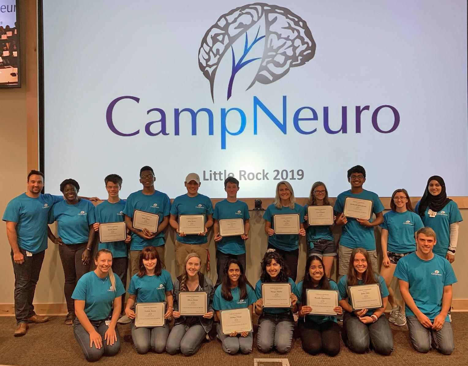 Group shot of CampNeuro participants