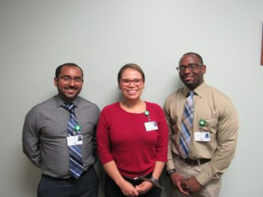 The new residents at the UAMS South Regional Campus in Magnolia, left to right, are: Kishalay Sinha, M.D.; Yehudi Romero, M.D.; Dauda Rogers, M.D. – Hometown: Old Bridge, N.J.
