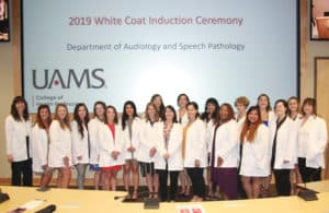The Communication Sciences and Disorders Class of 2021 received their white coats Aug. 16.