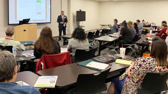 TBI State Partnership workshops like this one in Batesville are being done with assistance from the TBI Advisory Board Workgroup, comprised of representatives from many agencies and organizations and those living with brain injuries.