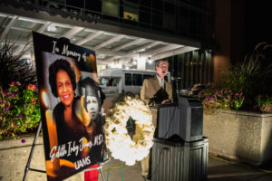 UAMS Chancellor Cam Patterson, M.D., MBA, speaks to the emotional impact of Jones's loss.