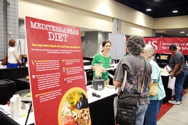 A Nutrition Booth at the Senior Expo provided samples of healthy foods and demonstrations of how to make them.