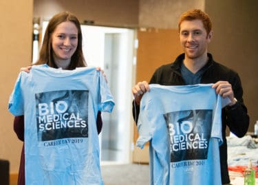 Students with Career Day T-shirts