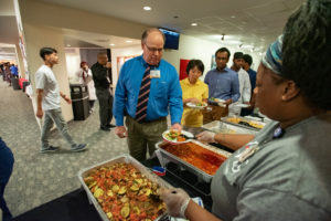 UAMS Catering serves an international menu including ratatouille and nakkikastike.