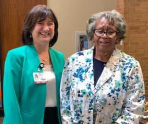 Phyllis Lloyd right with Provost Stephanie Gardner, Pharm.D., Ed.D.