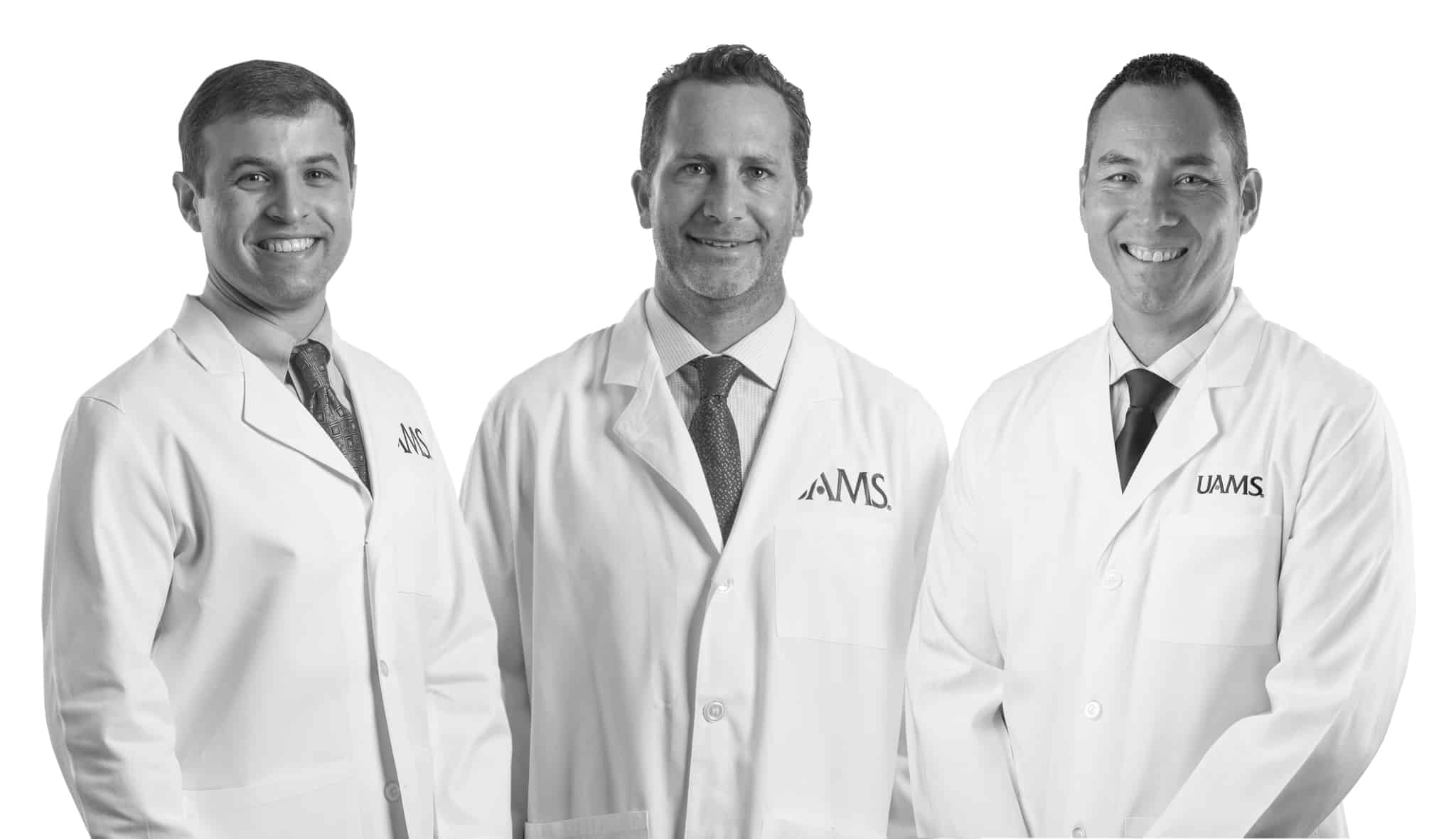 Drs. Chad Songy, Wesley Cox and Ramon Ylanan