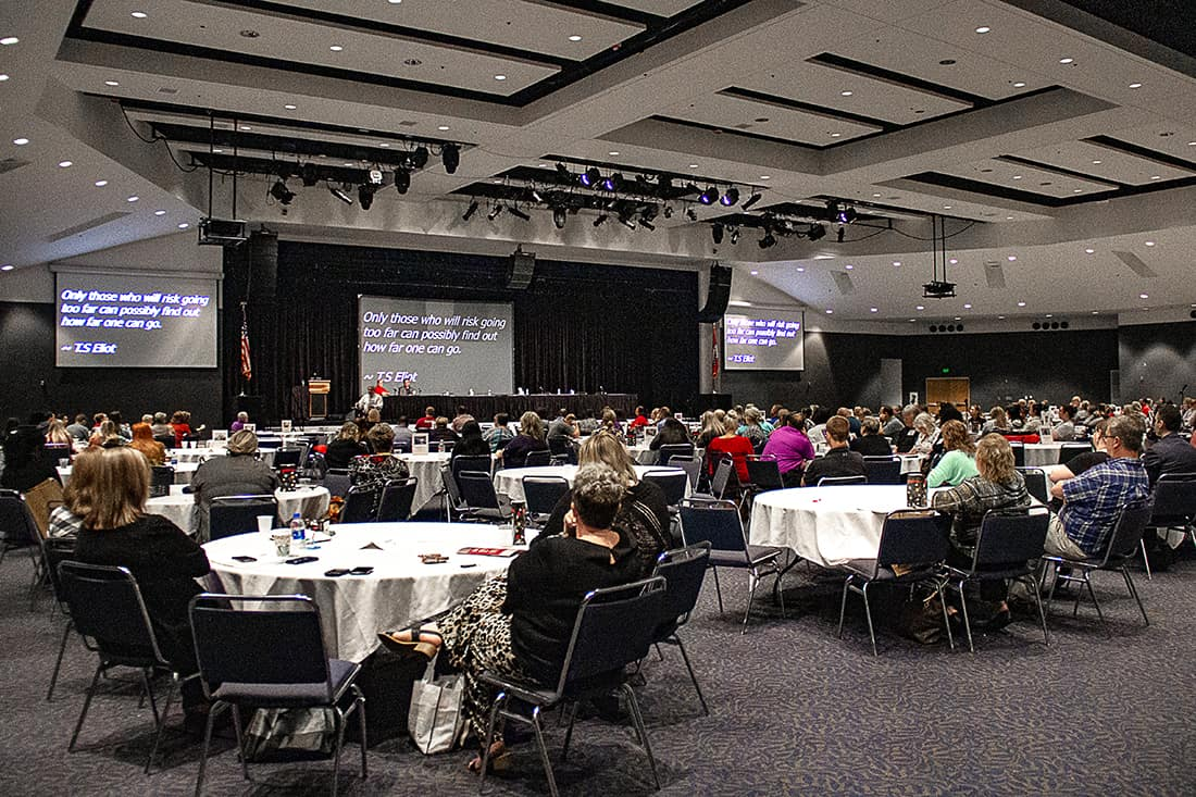 More than 300 health care professionals gather to listen to presentations at the UAMS Institute for Digital Health's 2019 Stroke Program Conference.