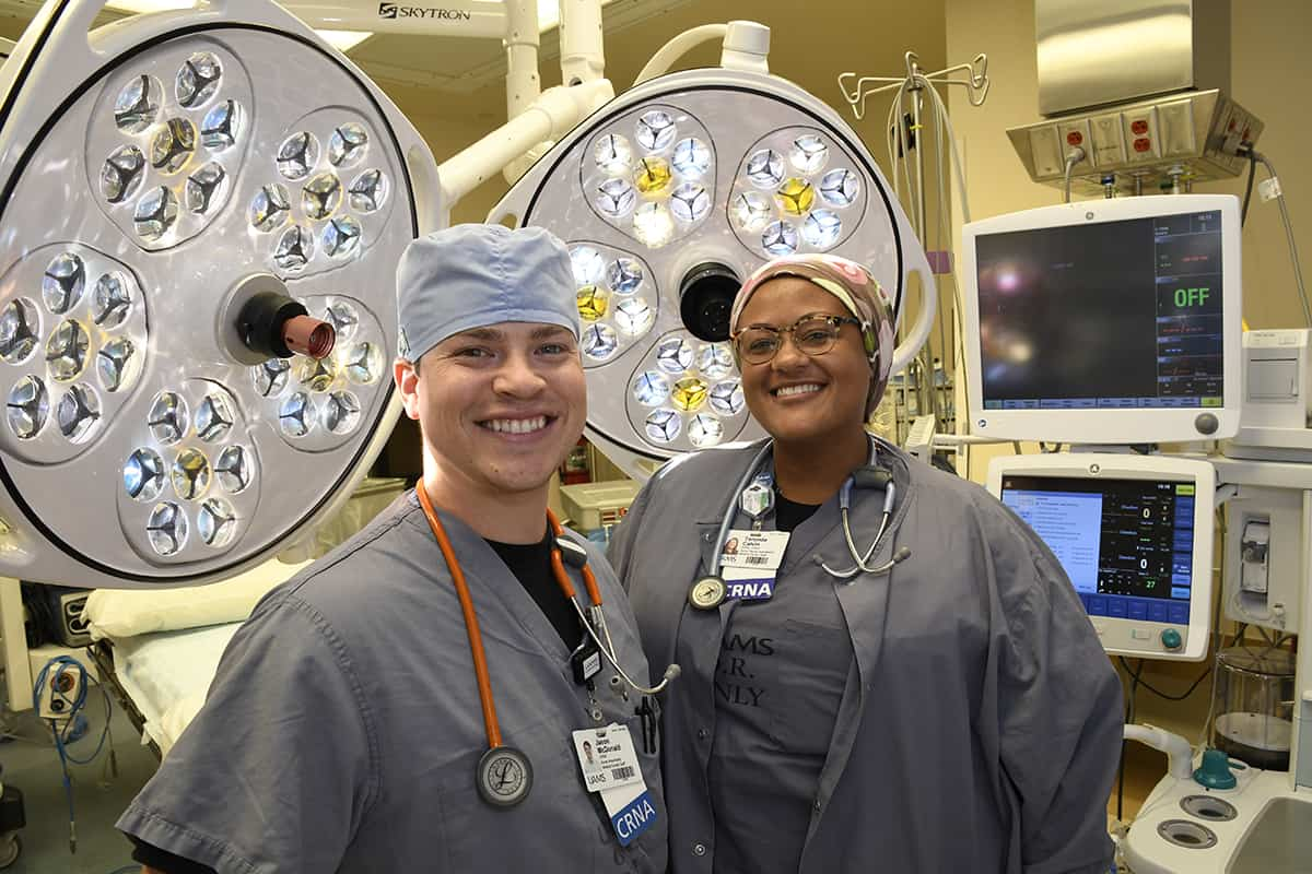 The UAMS College of Nursing has been accredited to educate nurse anesthetists. Jason McDonald and Taronda Calvin are two CRNAs already working at UAMS.