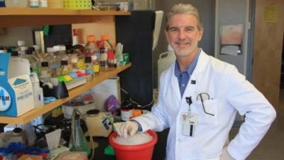 Dr. Barger in lab