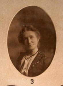 Annie A. Schoppach, M.D., who graduated in 1901, is featured in the exhibit as the first female graduate of the College of Medicine.