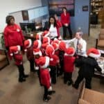 A group of preschoolers from the UAMS Head Start program recently celebrated the winter holidays by sharing songs with Chancellor Cam Patterson, M.D., MBA and others at UAMS.