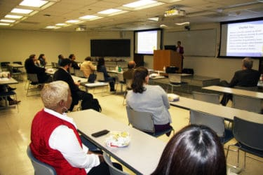 Krupinski's presentation was also offered as an online webinar in addition to an on-campus event.