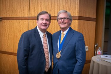 """This truly was Tom's idea to come back for his 'give back' period, which is the same reason I came to UAMS – because we care so much about this state, and we want to make it better,"" said C. Lowry Barnes, M.D., Frazier's longtime friend and colleague."