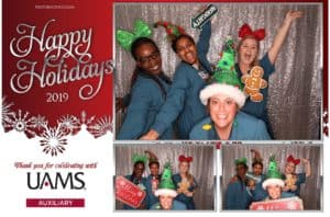 Many employees said the photo booths were their favorite part of the holiday party.