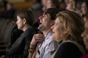 Audience members found themselves laughing and crying during the day's presentations.